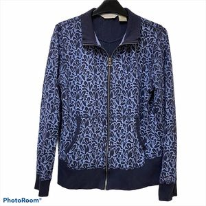 Horny Toad & Co Blue Floral Zip-Up Jacket